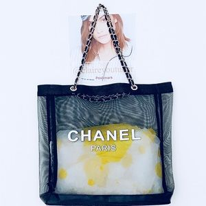 Authentic Chanel VIP Gift Mesh Tote